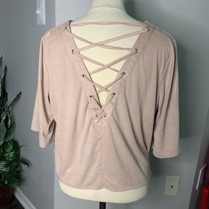 Forever 21 Faux Suede Blouse